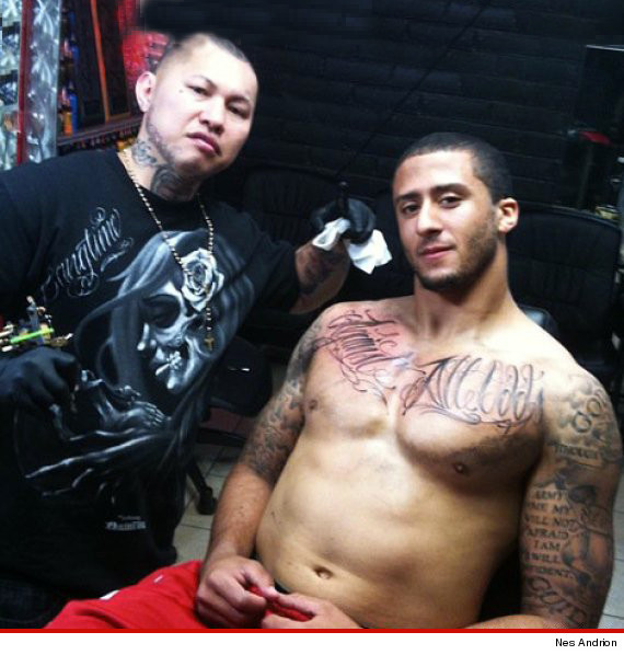 Tatted Up 49ers Star Colin Kaepernick -- Ink Biz BOOMING for QB's