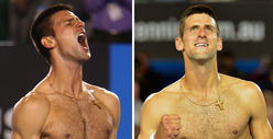 Tennis Star Novak Djokovic -- The Shirtless Win