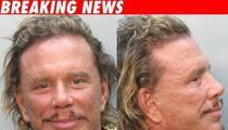 Mickey Rourke Busted ... on a Vespa!!
