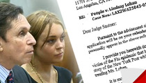 Lindsay Lohan's Lawyer -- She Can't Fly with the Flu