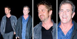 Mel Gibson & Gerard Butler -- Boys Night Out