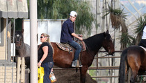 Justin Bieber -- Rides a Horse, Of Course