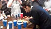 Takeru Kobayashi INHALES Whole Pizza at Super Bowl Party