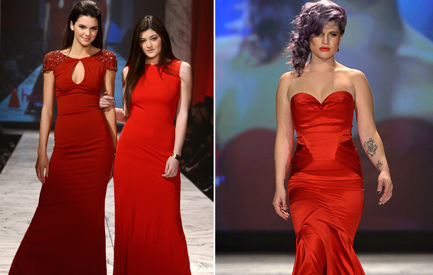 Jenner Sisters & Kelly Osbourne Are Red Hot at Fashion Week