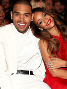 Chris Brown &amp; Rihanna Cuddle In Audience at Grammy Awards