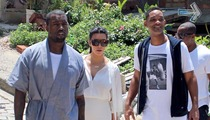 Kim Kardashian, Kanye West and Will Smith Together in Brazil