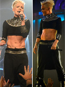 P!nk Shows Off Washboard Abs on Tour