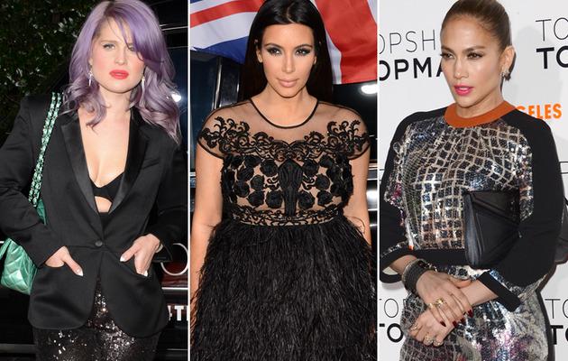 Kelly Osbourne, Kim K. & J.Lo: Boobs & Bumps At Topshop Bash!