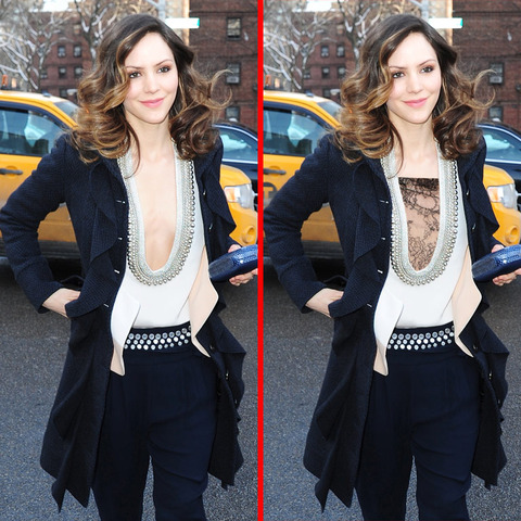 Can you spot the THREE differences in the Katharine McPhee picture?