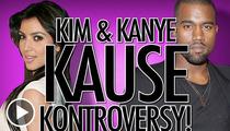 Kim Kardashian and Kanye West -- Valentine's Date Ignites Meat War
