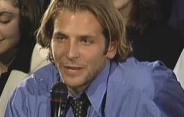 "Cute Video: Bradley Cooper as a Student on ""Inside the Actors Studio"""