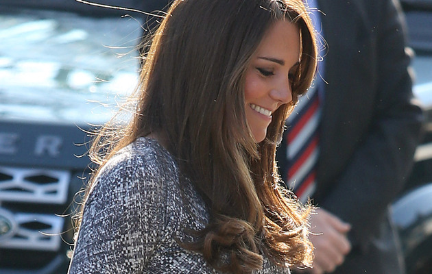Kate Middleton Debuts Her Baby Bump