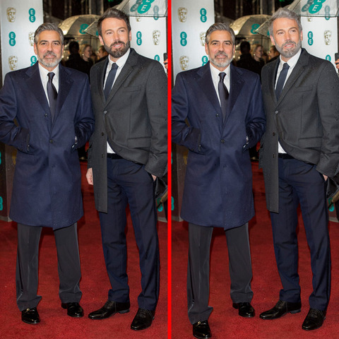 Can you spot the THREE differences in the George Clooney and Ben Affleck picture?