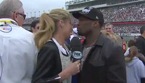 50 Cent and Erin Andrews -- Awkward Daytona 500 Kiss
