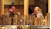 Arnold Schwarzenegger  -- The Hot Blonde Dinner Date
