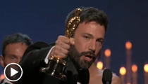 Ben Affleck's Oscar Speech -- Can He Recover ... At Home??