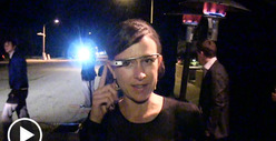Google Glass -- High-Tech Spectacles Make Oscar Pre-Party Appearance