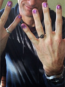 Tony Hawk Shows Off Sparkly Manicure!