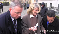 Martha Stewart CUSSES Outside Court -- 'OH SH*T!'