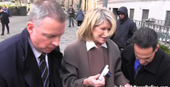 Martha Stewart CUSSES Outside Court -- &#039;OH SH*T!&#039;
