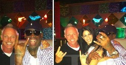 Dennis Rodman -- First Stop After North Korea ... THE STRIP CLUB