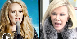 Adele -- Slathered in Fat Jokes ... By Joan Rivers