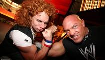Carrot Top Beats Wrestler! Sorta.