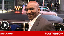 Evander Holyfield -- All Ears at Mike Tyson's One-Man Show