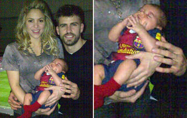 Shakira Posts Photo of Baby In Soccer Jersey