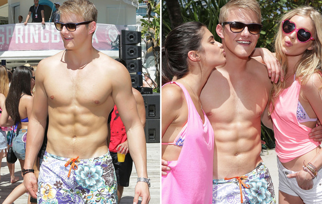 """Hunger Games"" Hottie Flaunts Hot Bod at Spring Break!"