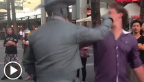 Human Robot -- PUNCHES HECKLER IN THE FACE! [Video]