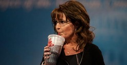 Sarah Palin Sucks ... Out of a Straw