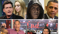 TMZ Live: Charlie Sheen -- I'll Catch Knife Threat Suspects