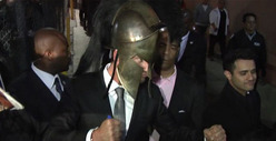 Gerard Butler -- Whips Out His Famous ... 'This Is Sparta!' Line