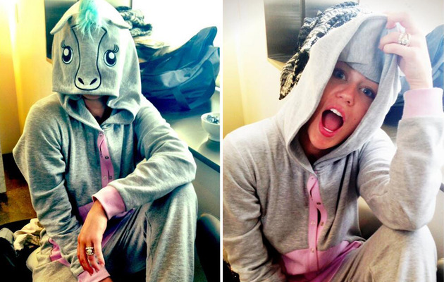 "Video: Miley Cyrus ""Twerks"" It as a Booty-Popping Unicorn"