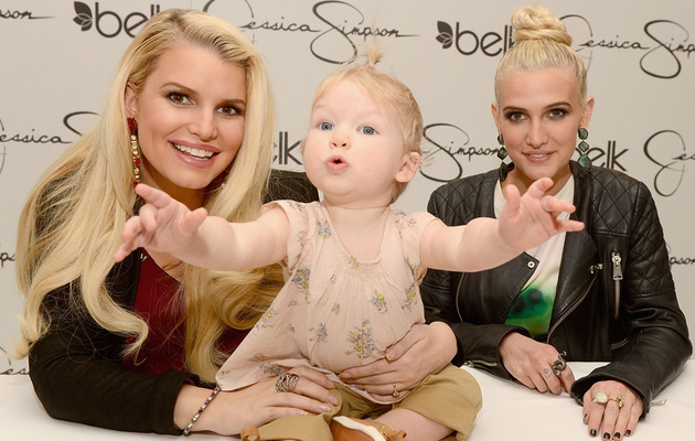 Jessica Simpson Shows Off Baby Bump & Baby Maxwell