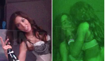 'Teen Mom' Star Farrah Abraham -- Boozing in Lingerie, Kissing Chicks