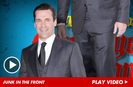 Jon Hamm 's willie is a little too free, according to the companies