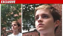Emma Watson -- Shortcut in Dorm Room Evacuation