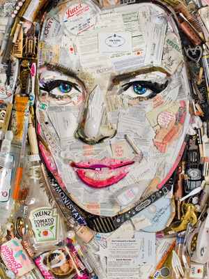 Finally, a Portrait of Lindsay Lohan Made From Booze Bottles and Cigarette Butts!