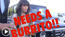 Kim Kardashian -- Cravings Require Burrito Backup from Cops