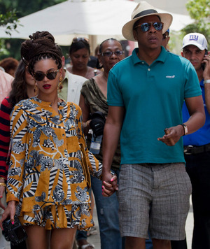 Jay-Z and Beyonce -- Playing With Cuban Fire