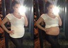 Pregnant Kim Kardashian -- Looking Belly, Belly Good