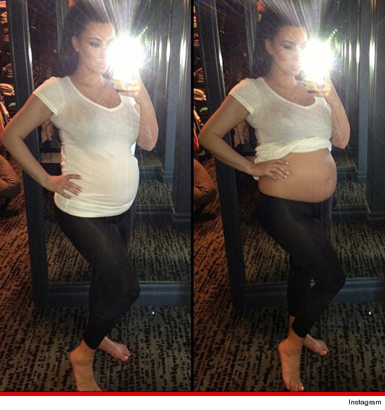 Kim Kardashian -- Looking Belly, Belly Good