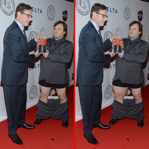Can you spot the THREE differences in the Bob Saget and Jack Black picture?