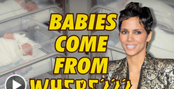 Halle Berry's Pregnancy -- Mama's Got It Poppin'
