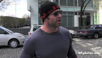 Hugh Jackman -- Even Wolverine Gets Shaken by Pubic Hair Tossing Fans