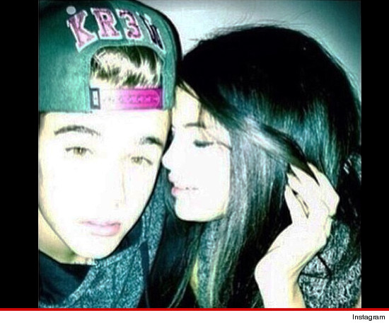 Justin Bieber -- Posts and Quickly Deletes Snuggly Pic w/Selena Gomez