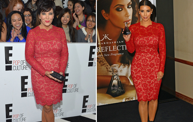Dueling Dresses: Kris Jenner vs. Kim Kardahian!