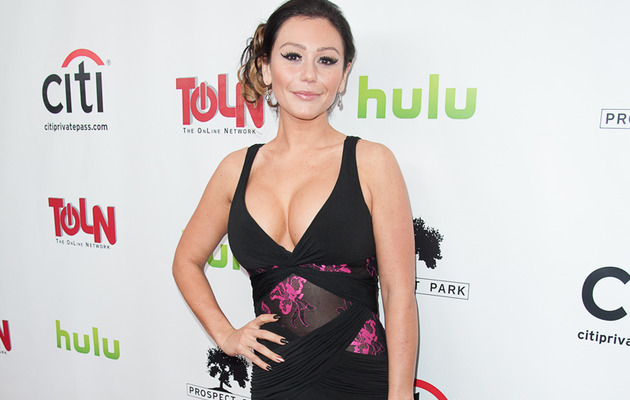 Jwoww Almost Busts Out of Dress on the Red Carpet